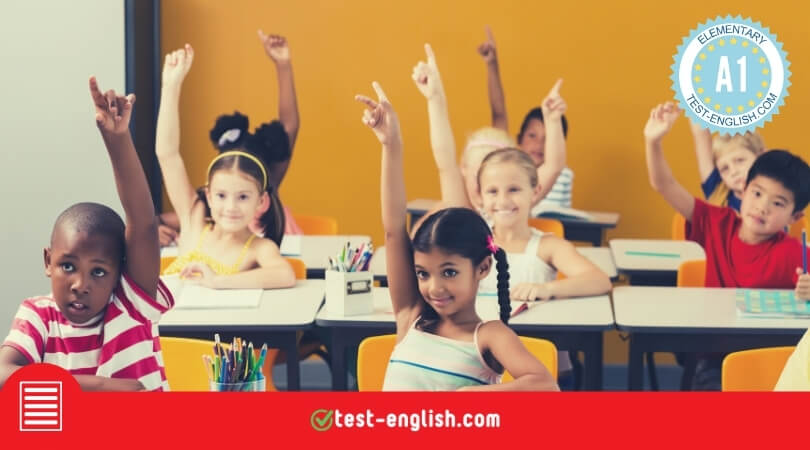 A1 reading comprehension test