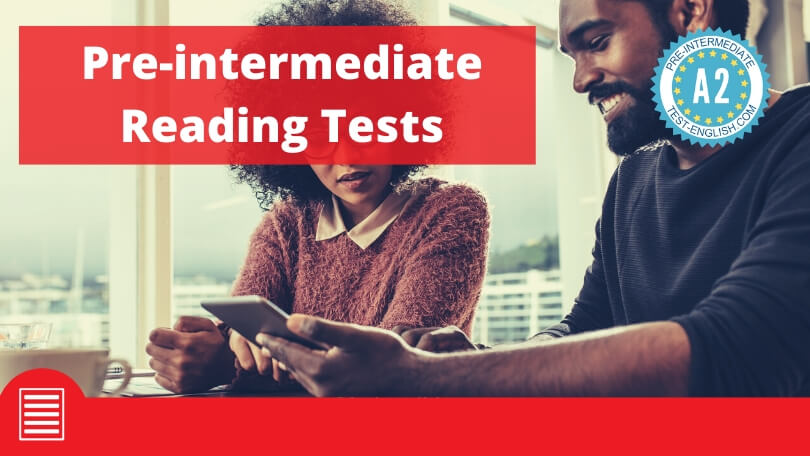 A2 English reading comprehension tests